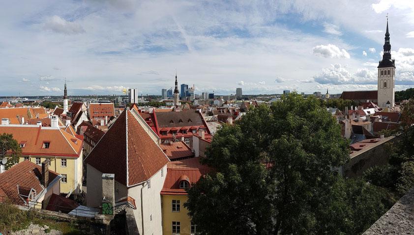 Tallinn, Blick von der Kohtuotsa Viewing Platform nach Osten