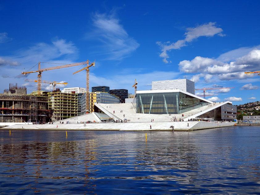 Oslo. Das Opernhaus ist seit 2008 Spielstätte der norwegischen Oper