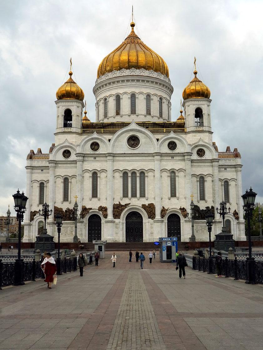 Das zentrale Gotteshaus der Russisch-Orthodoxen Kirche gehört mit 103 Metern zu den höchsten orthodoxen Sakralbauten weltweit. (Wiederaufbau 1990er Jahre)