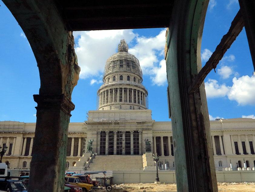 Das Kapitol wird z.Zt. restauiert und soll ab 2018 wieder als Parlamentsgebäude dienen.