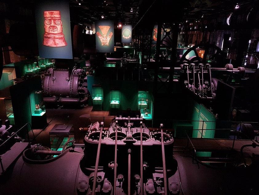 Die Inka-Ausstellung in der Gebläsehalle der Völklinger Hütte. Inka - Gold. Macht. Gott. 3000 Jahre Hochkultur, Ausstellung bis 8. April 2018