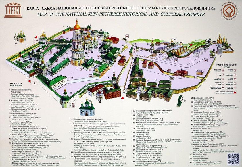 Karte des Kiewer Höhlenklosters