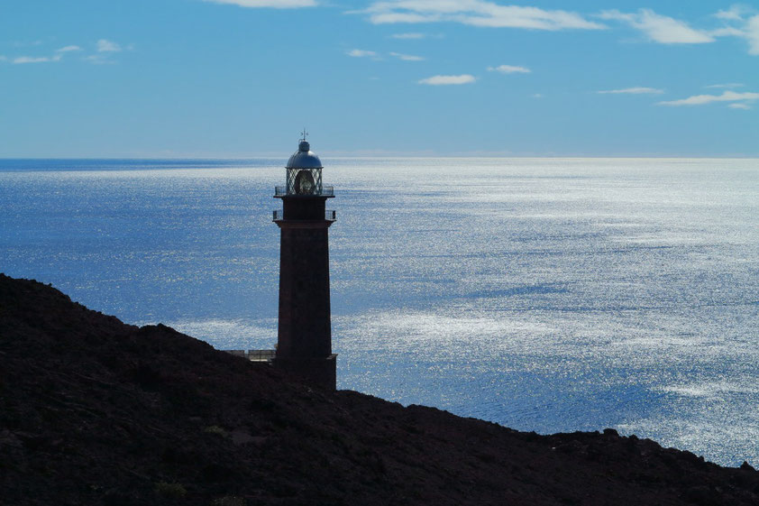 El Hierro. Faro de Orchilla, der südwestlichste Leuchtturm Europas. In der Nähe verlief ehemals der nullte Längengrad.