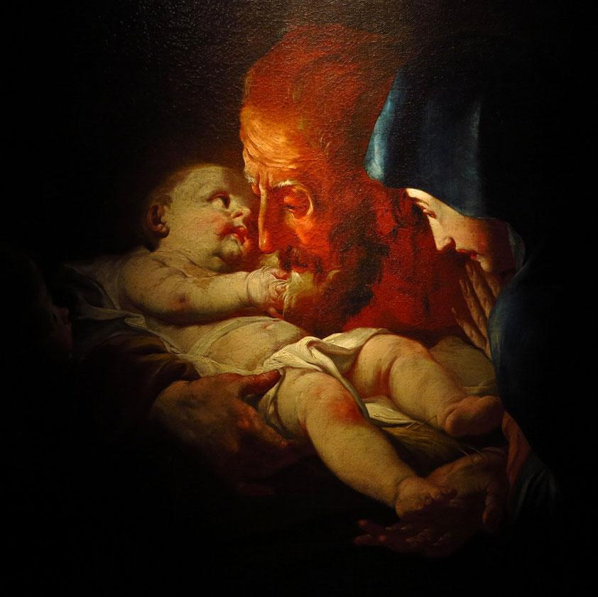 Nationalgalerie Bratislava. Josef Ignaz Mildorfer (?), Christi Geburt, Öl auf Leinwand, 1763-1764