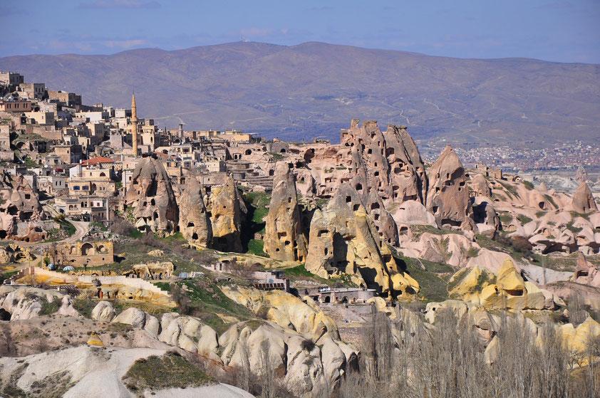 Ehemalige Wohnhöhlen in Uçhisar