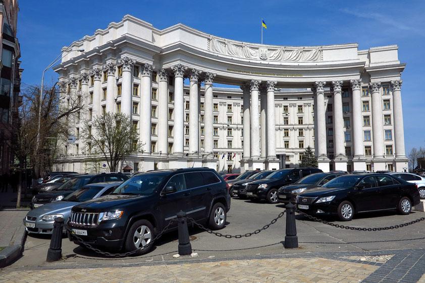 Stalinistischer Prachtbau in der Oberstadt, heute das Außenministerium der Ukraine