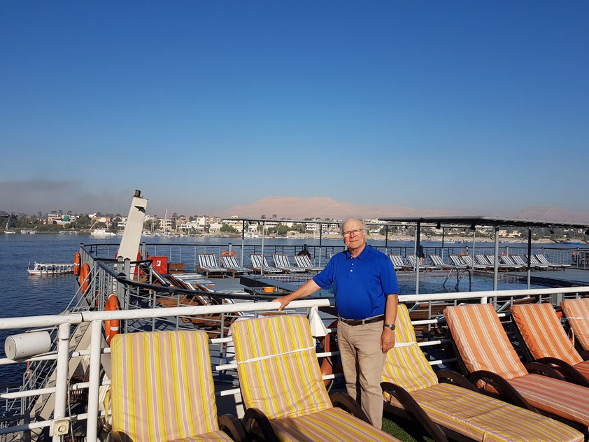 Blick nach Theben-West - Abschied von der Solaris II in Luxor am 19.11.2018