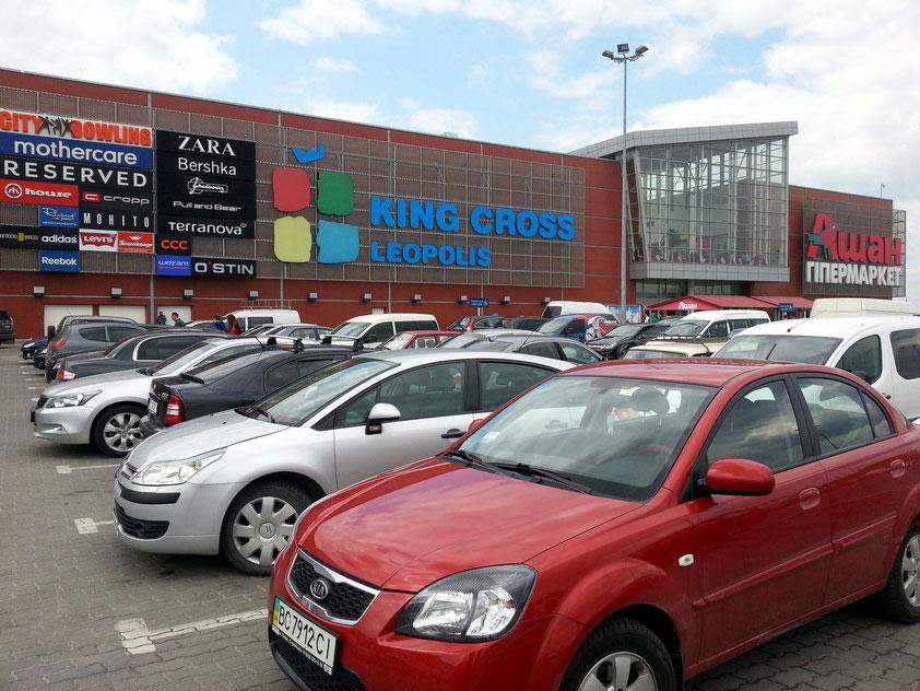 Neues Einkaufszentrum King Cross Leopolis im Süden von Lviv