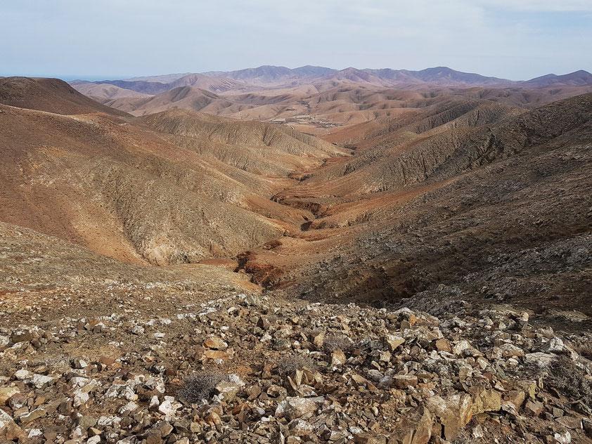 Astronomical Viewpoint Sicasumbre, Blick nach N auf die Badlands