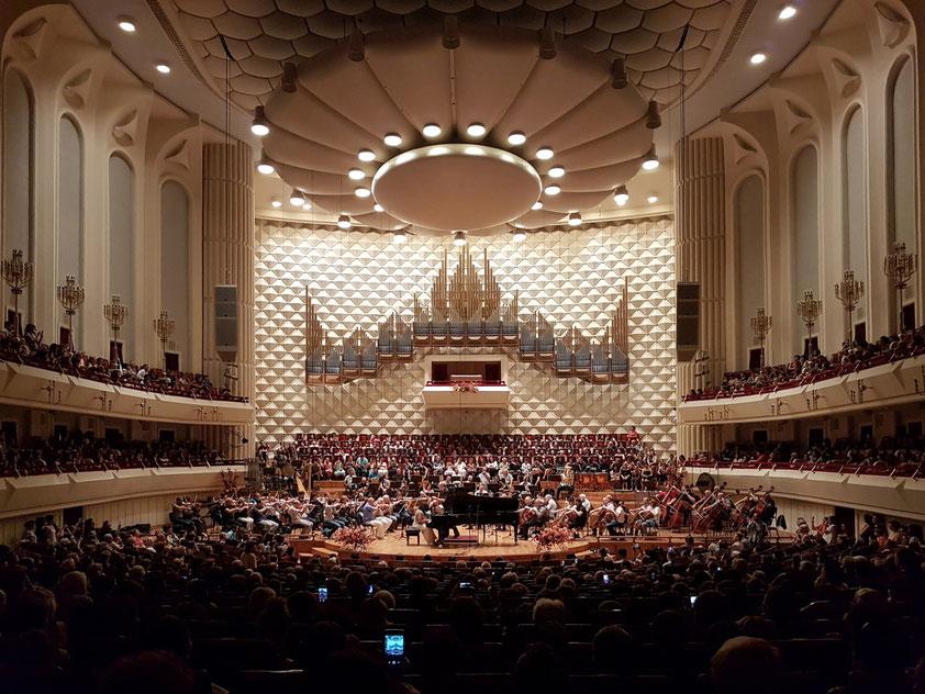Final Rehearsal (Generalprobe) des Klavierkonzerts Nr. 2 von Rachmaninoff mit Khatia Buniatishvili am 14. 10. 2018 im Konzertsaal des Kakhidze Music Centers