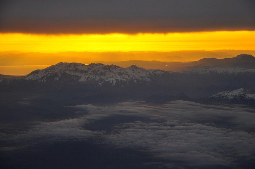Nach dem Flugzeugstart über dem Taurusgebirge