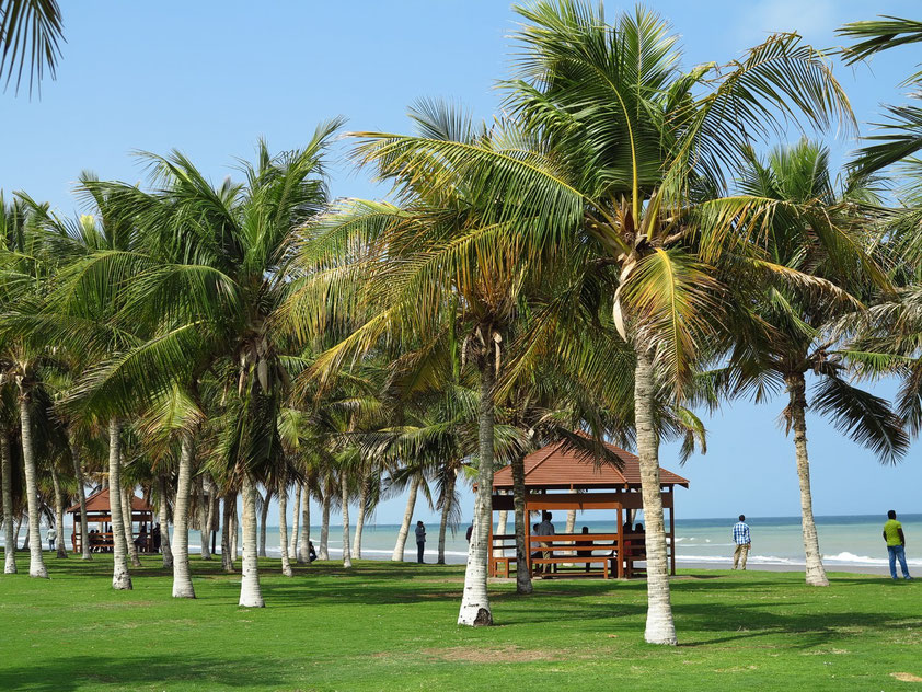 Am Strand von Maskat in der Nähe des Diplomatenviertels