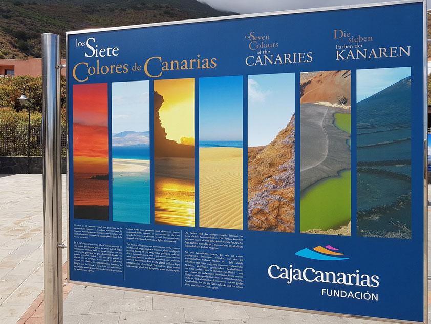 El Hierro, Werbung für die Kanarischen Inseln auf dem Sonntagsmarkt von Frontera