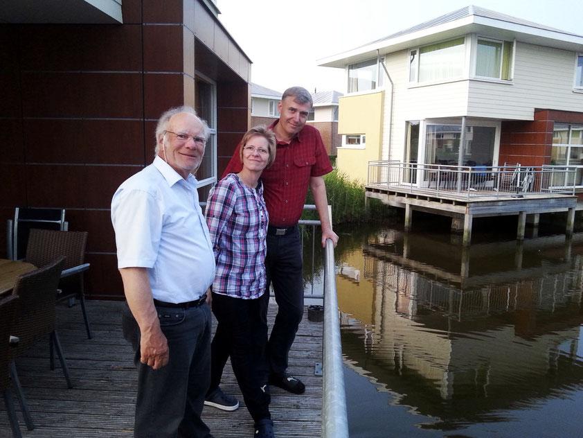 Treffen mit Heide und Stefan im Feriendorf Anjum in Esonstad (Foto: G. Ehrich)