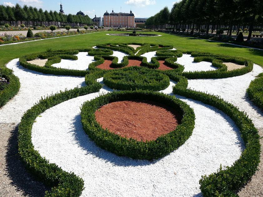 Blick vom Schlossgarten zum Schloss