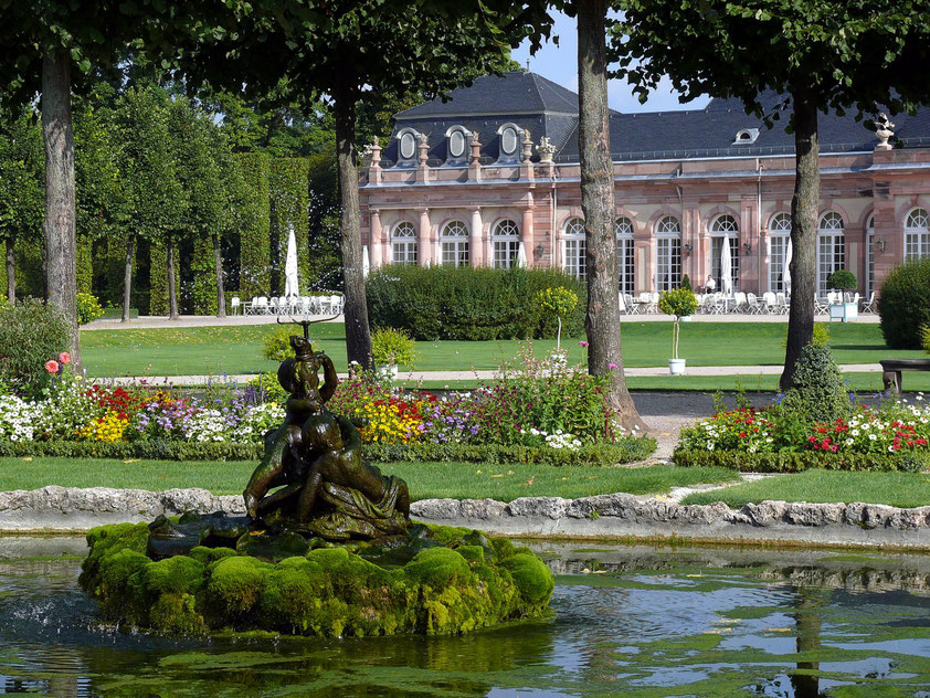 Im Schlossgarten von Schwetzingen (Aufnahme von 2008)