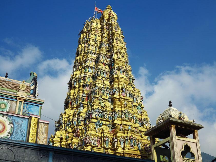 "Der Tempel ""Sri Muthumari Amman Kovil"" in Matale ist der größte Hindu-Tempel auf Sri Lanka."