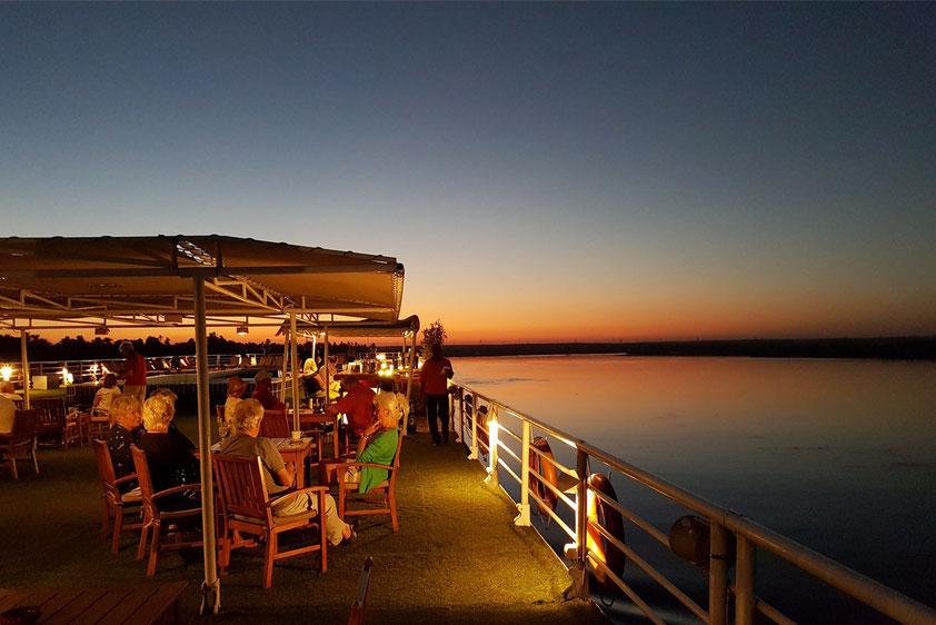 Abendstimmung auf dem Nil bei Kom Ombo