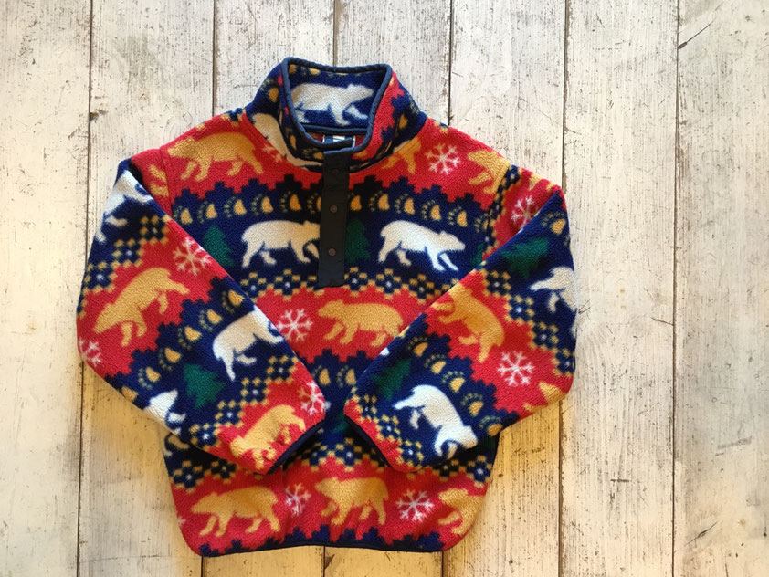 『USED』 L.L.Bean(エルエルビーン) Snap-T Fleece Pullover(Kids) ¥4,860(税込)