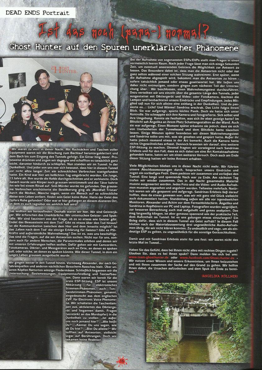 Artikel im Dead Ends-Magazin, Ausgabe 05/2015