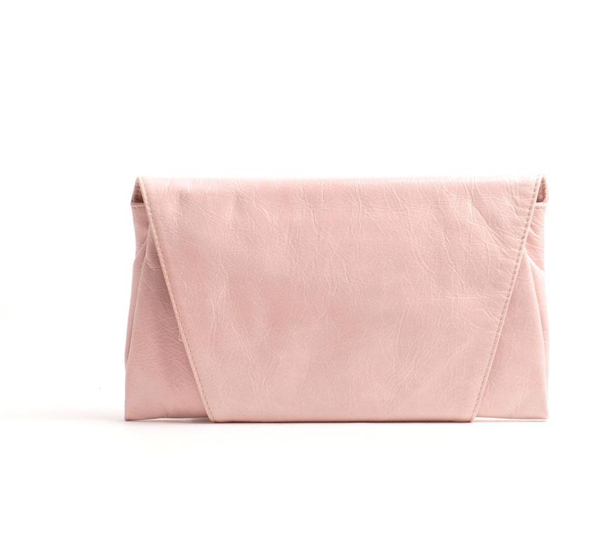 OWA Tracht Clutch rosè Leder Dinrdltasche Trachtentasche