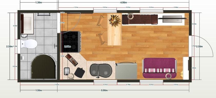 Casas construidas con estructura containers p gina web for Diseno de oficinas con contenedores