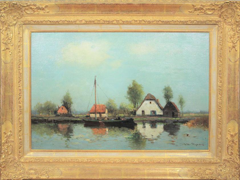 te_koop_aangeboden_een_landschaps_schilderij_van_de_nederlandse_kunstschilder_willem_weissenbruch_1864-1941_haagse_school