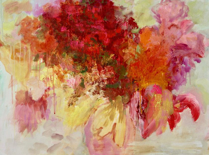 Blumenstrauß, 2018 Acryl auf Leinwand 60x80