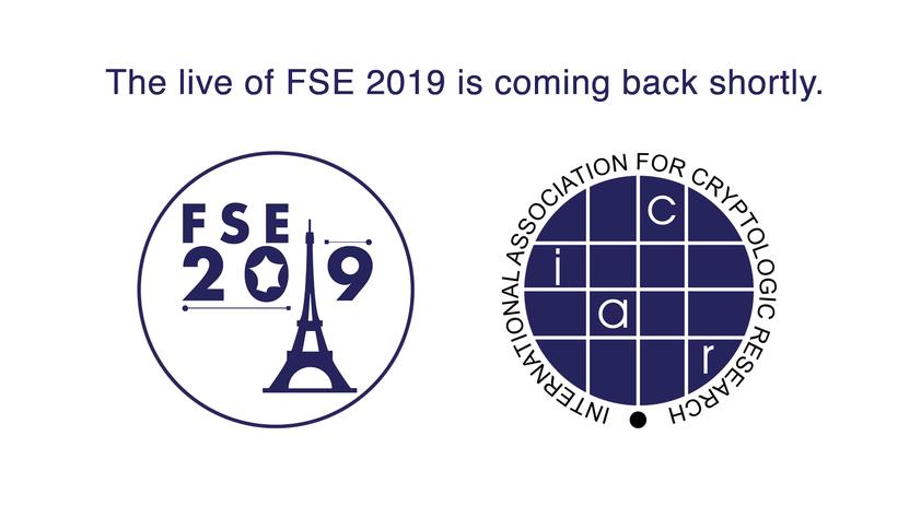 IACR, conférence, captation live, FSE, FSE2019, Paris, Il est une fois