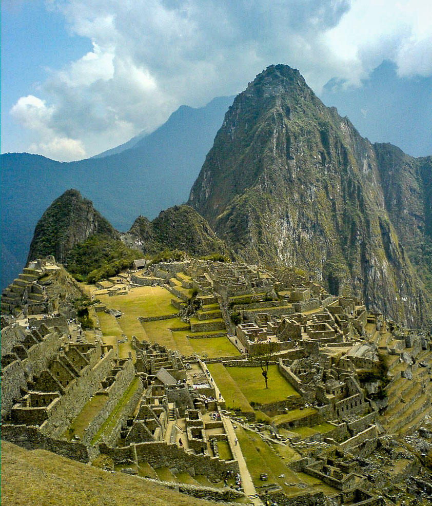 The iconic shot of Machu Picchu when you arrive