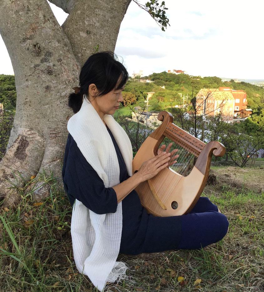 ライアー ライア 竪琴 tategoto てるる詩の木工房 あやはべる 9弦 32弦 39弦 leier lyre