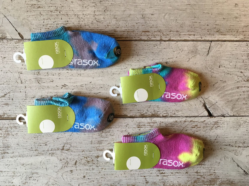 rasox(ラソックス) TK Tie-Dye Low Socks 各¥1,200(+TAX)