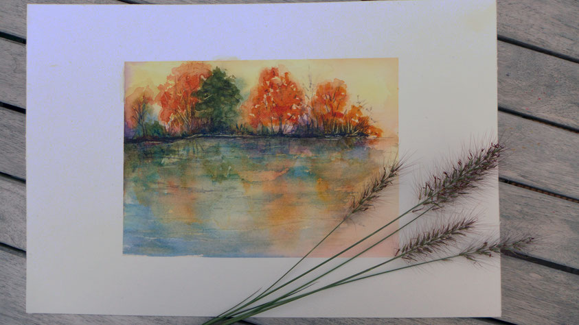 Inspiration - Herbstlandschaft in Aquarell malen - DIY-Projekt