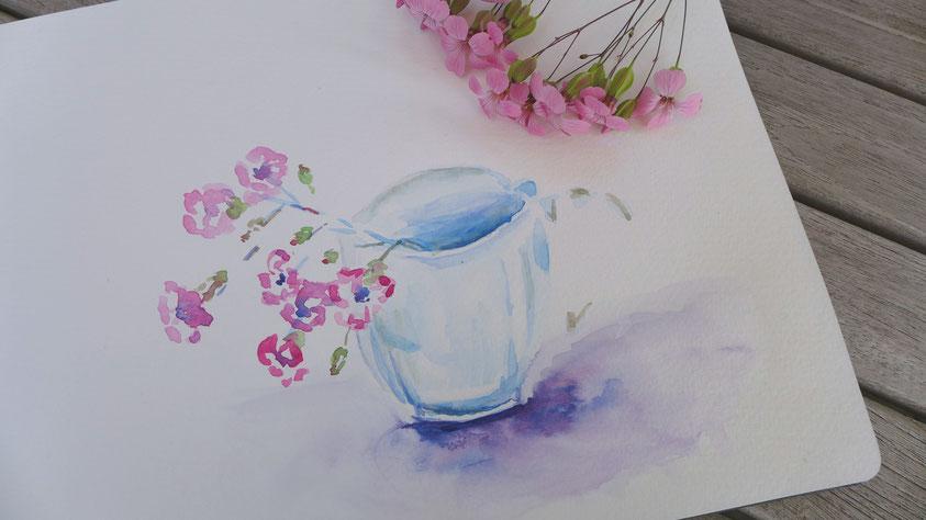 Inspiration - Wiesenblumen in Aquarell skizzieren
