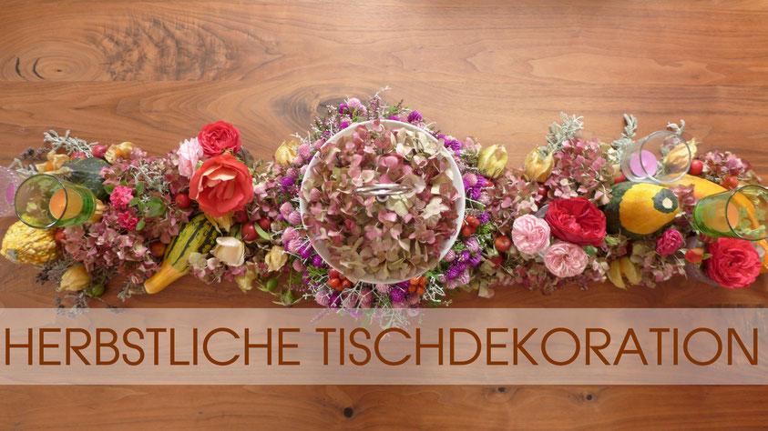 Dekoration - Herbstliche Tischdekoration - DIY-Projekt