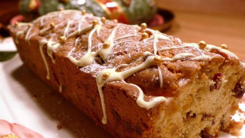 Rezept – weihnachtlicher Aprikosen-Cranberry-Ingwer-Kuchen - DIY