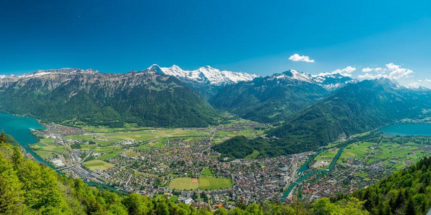 Interlaken Switzerland Eiger Mönch Jungfrau mountain view