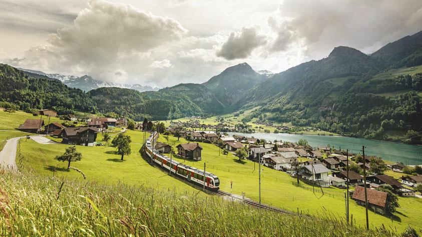 Scenic Swiss travel by train
