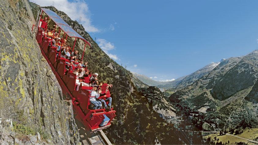 Gelmerbahn Switzerland steep alpine rollercoaster