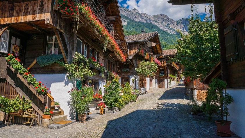 Brunngasse Brienz most beautiful street Europe Things to do Interlaken