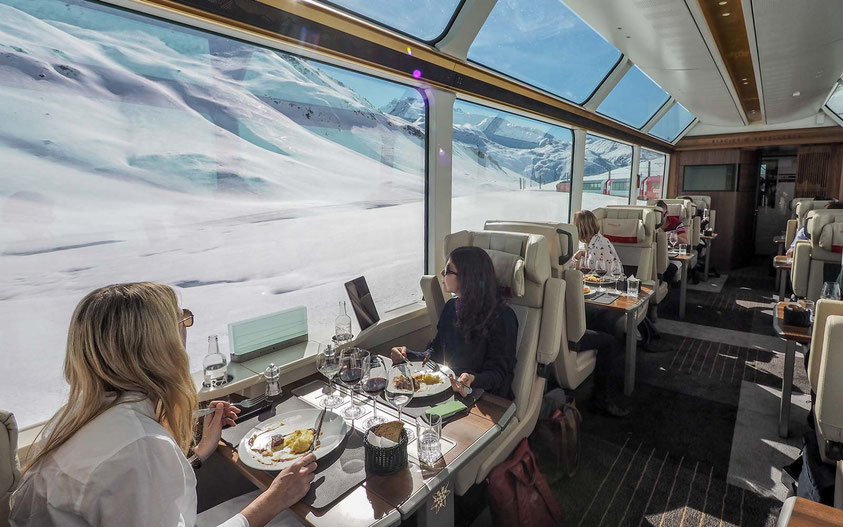 Comfortable Swiss travel by train