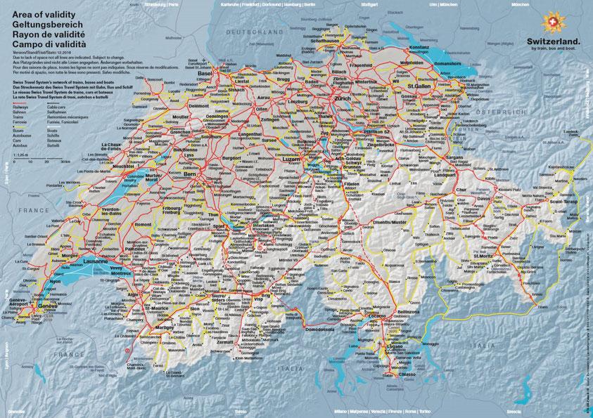 Swiss public transportation network