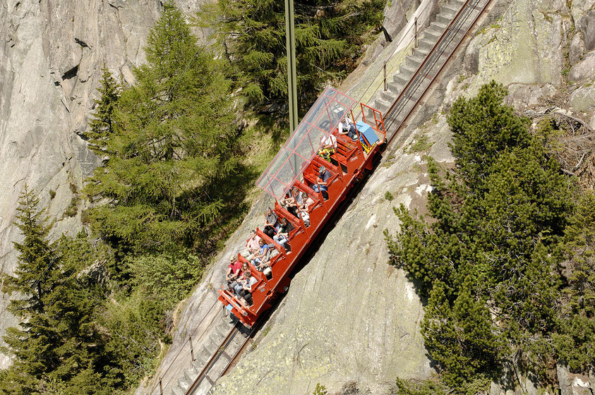 Gelmerbahn is Europe's steepest funiculaire rollercoaster