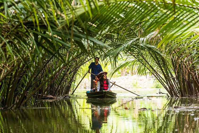 Bang Bai Mai valčių turgus Surat Thani provincijoje