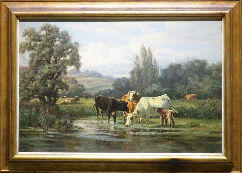 te_koop_aangeboden_een_schilderij_van_de_nederlandse_kunstschilder_willem_frederik_hulk_1852-1902_hollandse_romantiek