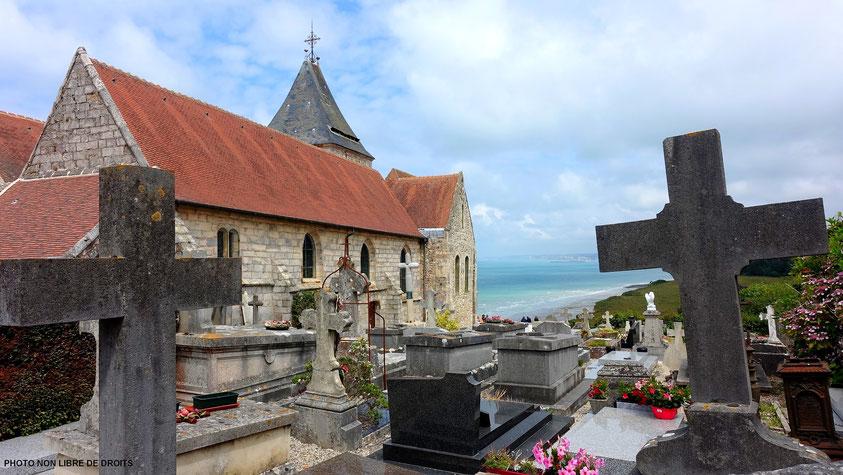 Eglise de Varangeville-sur Mer, Normandie, photo non libre de droits