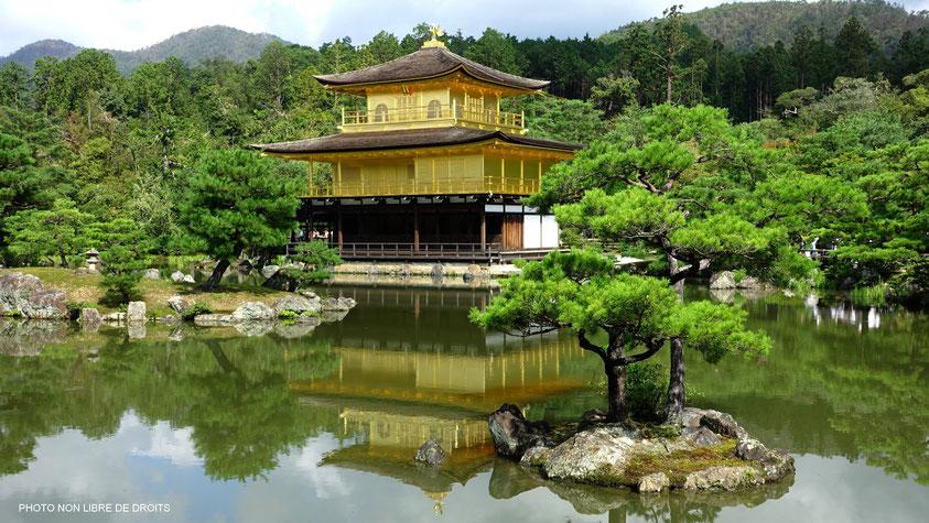 """Kinkaku-Ji, le """"Pavillon d'Or"""", Japon, photo non libre de droits"""