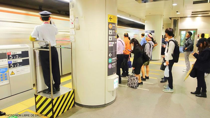 Métro de Tokyo, Japon, photo non libre de droits