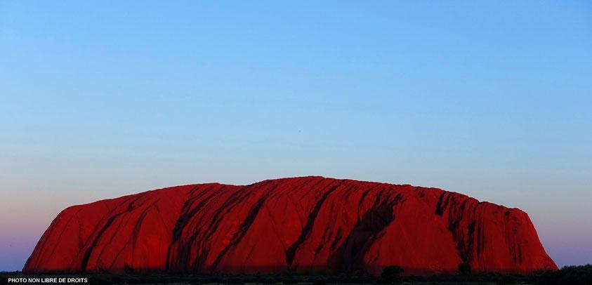 Uluru, le mystérieux, Australie, photo non libre de droits