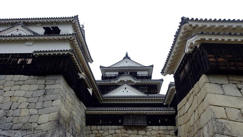 Tenshu du château de Matsuyama, Japon, photo non libre de droits